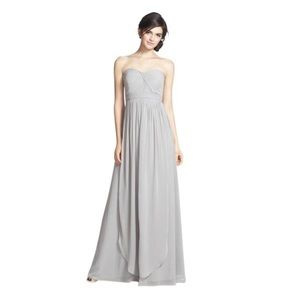 Jenny Yoo Mineral Grey Chiffon Aidan Dress